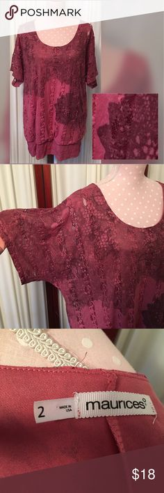 Maurices plus size top Fully lined top with snake skin like detail Maurices Tops