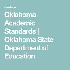 Oklahoma Academic Standards | Oklahoma State Department of Education
