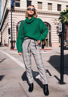 it girl - xadrez - xadrez e tricot - inverno - street style