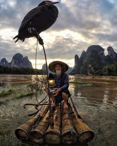 Huang Yue Chuan has been fishing in #China's Li River for over 50 years | Photo by @king_roberto on IG via TW by China Icons @chinaicons