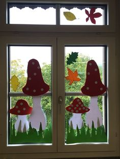 Learn how to make easy and fun Spring crafts for kids - all you need are a few supplies you can buy at your local dollar store Spring Crafts For Kids, Autumn Crafts, Art For Kids, Decoration Creche, School Decorations, Window Art, Stone Painting, Classroom Decor, Easter Crafts