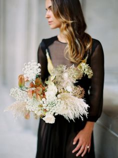 wild flower neutral color palette bouquet