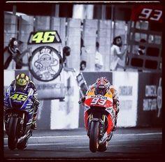 Valentino Rossi and Marc marquez!