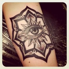 21 Best Eye Tattoo Designs with Images is part of Best Eye Tattoo Designs With Images Piercings Models - Third all seeing Eye Tattoo designs and example for on your arm, hand or neck Evil, minds and Egyptian eye tattoos and images with inspiration Mandala Tattoo Design, Dotwork Tattoo Mandala, Tatto Design, Mandala Flower Tattoos, Flower Mandala, Lotus Tattoo, Future Tattoos, Love Tattoos, Tattoo You