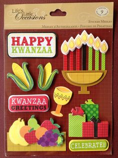 Happy Kwanzaa sticker medley by Life's Little Occassions, Happy Kwanzaa, Mlk Jr Day, Seasonal Decor, Decorating Your Home, About Me Blog, Seasons, Stickers, This Or That Questions, Sticker