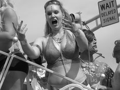 I don't know what or where she was directing this energy but she was very animated and excited. Canon Powershot, Indiana, Pride, Alternative, Faces, Animation, Passion, America, Costumes