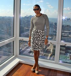 stripes and animal prints:  StilettoEsq