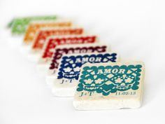 Papel picado wedding favors Day of the Dead, 18 magnets