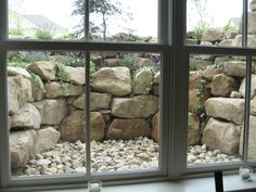 basement window landscape