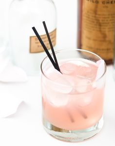 Rose syrup and light pink rose petals give this refreshing cocktail its pretty pallor, but the real heart of the drink is the gin.