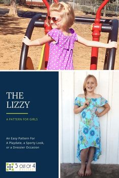 This is the perfect dress for every occasion! Make this easy pattern for your girl. She'll love wearing The Lizzy to casual play dates and to any dressier, summer occasion! Diy Clothing, Sewing Clothes, Clothing Patterns, Fall Sewing, Hand Sewing Projects, Teen Girl Outfits, Sewing Patterns For Kids, Sporty Look, Modern Outfits