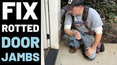 How To Repair Rotted Door Jambs Door Frame Repair, Replacement Patio Doors, Diy Screen Door, Door Jamb, Carpenter Work, Door Molding, Exterior Doors, Diy Exterior Door Frame, Solid Doors