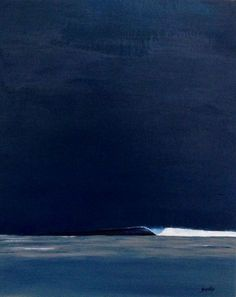 Surf art - dark ink sky solo right-hand wave abstract seascape abstract ocean painting abstract water painting abstract ocean drawing Ocean Art, Ocean Waves, Landscape Art, Landscape Paintings, Wave Paintings, Landscapes, Abstract Ocean Painting, Painting Art, Surfing Painting