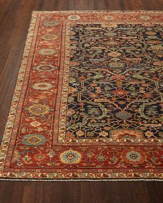 Shop Richmond Rug from Ralph Lauren Home at Horchow, where you'll find new lower shipping on hundreds of home furnishings and gifts. Iranian Rugs, Iranian Art, Urban Aesthetic, Second Empire, Ticking Stripe, Bath Linens, Hand Tufted Rugs, American Country, Indoor Rugs