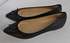 J CREW GEMMA FLATS BALLET BLACK SIZE 10 NEW E0200 #JCREW #BALLETFLATS