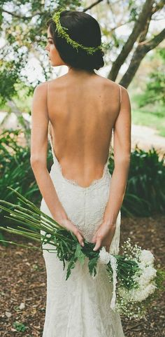 Our favorite bridal style: wedding dresses with unique backs and daring details