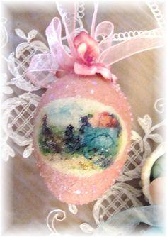 Pink Glitter Egg