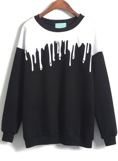 Melting black sweatshirt