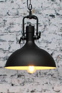 Industrial Dome Pendant Light in matt black is a bold industiral light for home or commerical settings