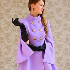 Buy 'Dabuwawa � Double-Breasted Wool Blend Cape Coat' with Free International Shipping at YesStyle.com. Browse and shop for thousands of Asian fashion items from China and more!