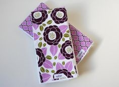 Baby Girl Burp Cloths by sarahwestdesign