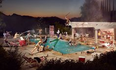 """For his """"Tableaux Vivants"""" photo series, Ryan Schude uses Photoshop to composite dozens of photographs, creating images that seem to capture one evocative instant. Gregory Crewdson, Erwin Olaf, Street Photography, Art Photography, Cinematic Photography, Imagine Photography, Contemporary Photography, Contemporary Art, Tableaux Vivants"""