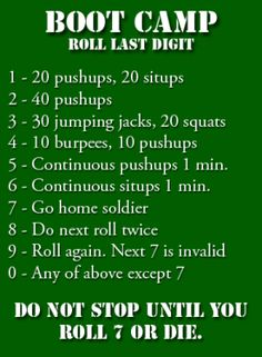 roll a dice workout