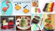 Fruta dibertigarria Kiwi, Cake, Desserts, Food, Fruit Popsicles, Cherries, Funny Fruit, Lollipops, Skewers