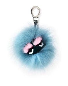 Fendi Mini Eyelash Monster Fur Charm for Handbag f352d64688be9