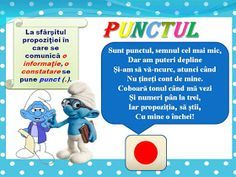 S.T.R.U.M.F.: Planse semne de punctuatie Visual Perceptual Activities, School Lessons, Geography, Smurfs, Baseball Cards, Centre, Projects, Literatura, Log Projects