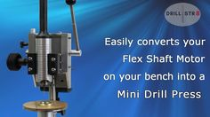 The Drill-Str8 easily converts your Flex Shaft Motor into a mini drill press on your bench within seconds and back again. You do not need an extra flex shaft motor. This video demonstretes the ease and use of the Drill-Str8. Workshop tools, universal flex shaft handpiece, Foredom® handpiece, flex shaft rotary motors, miniature drill press, drilling jewellery, precision drilling, tools for jewelry making, jewelry studio, benchtop tools
