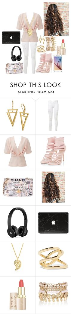 """""""must be nice"""" by ashleynicole22 on Polyvore featuring Frame Denim, TY-LR, Chanel, Beats by Dr. Dre, Samsung, Sonal Bhaskaran, Jennifer Fisher and River Island"""