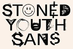 STONED YOUTH - GRAPHIC FONT by New Tropical Design on @creativemarket