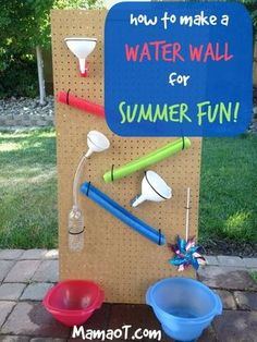 Liebe die Windrad-Idee (Diy Ideas For Kids) - Wie macht man Outdoor Water Activities, Toddler Activities, Outside Activities For Kids, Steam Activities, Summer Activities, Family Activities, Backyard For Kids, Diy For Kids, Backyard Games