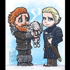 """""""The Cold Shoulder"""" ❄️❄️❄️ Give a Wildling a chance Brienne! @khivju…"""