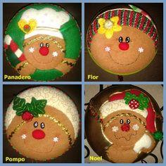 MOGOLLAS GALLETAS Christmas Gingerbread Men, Gingerbread Ornaments, Felt Christmas Ornaments, Christmas Gnome, Christmas Fabric, Christmas 2015, Christmas Crafts, Christmas Decorations, Christmas Ideas
