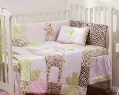 pink safari nursery | Piece Stunning 'Pink Safari' Baby Crib Bedding Cot Set RRP $250 00 ...