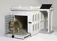 Custom Luxurious Designer Dog House- The Presidential Palace Style Mansion   Posh Puppy Boutique Igloo Dog House, Dog Houses, House Dog, Tree Houses, Play Houses, Dog House Heater, Dog Mansion, Luxury Dog House, Dog Ear Cleaner