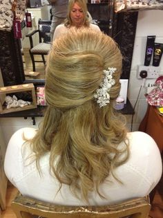 Classic Wedding Hair done by Angie at Cloud Nine Hair and Beauty Salon