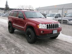2006 Jeep Grand Cherokee in red with bull bar winch - Google Search