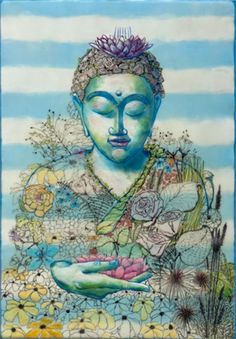 buddha♥The past is already gone, the future is not yet here. There's only one moment for you to live, and that is the present moment. Lotus Buddha, Art Buddha, Buddha Kunst, Buddha Zen, Buddha Painting, Buddha Flower, Gautama Buddha, Buddha Buddhism, Buddhist Art