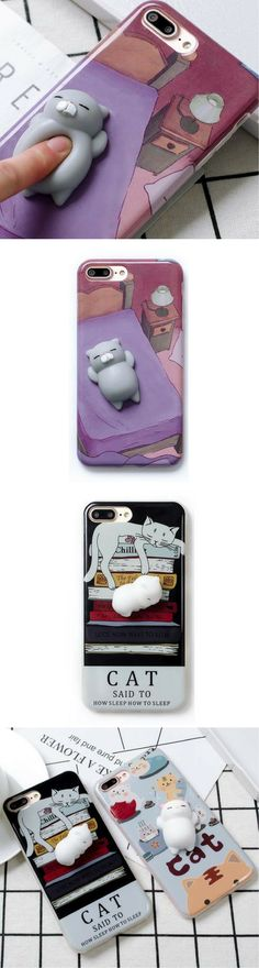 GET YOUR 3D Cartoon Cute Soft Silicone Squishy Squishy Cat Cover Case for iPhone 6, 6S ,7 Plus Phone Cases for 60% off NOW http://amzn.to/2rwqPgY
