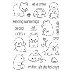 Clearly Besotted ARCTIC ANIMALS Clear Stamp Set