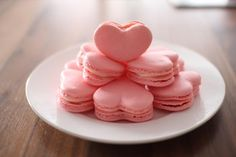 cool How to make heart macaroons? , Found a heart macaroon recipe video that makes baking Valentine sweets look easy. I haven't tried it yet but I thought it will be useful to share... ... ,  #Cookingrecipes #Sweets #Valentine'sDay