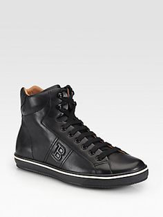 Bally Oxen Leather High-Top Sneakers $450.00