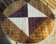Pai Sho White Lotus Wooden Tile by peaklaser on Etsy