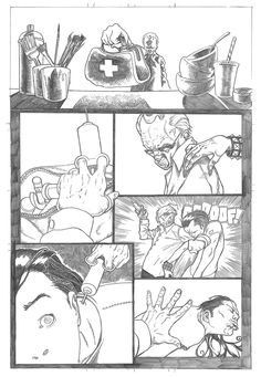 Nearly completed page of Blackwood.