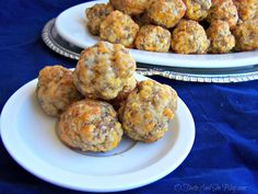 Sausage Balls are a Southern tradition, great for breakfast, lunch or snack. This four ingredient recipe is easy and can be make ahead. All will love them