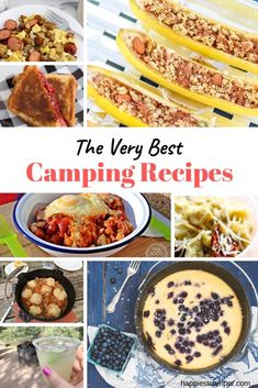Great list of the best camping recipes for breakfast, lunch, dinner, dessert, and even drinks and snacks. Makes packing so easy! Best Camping Meals, Camping Menu, Camping Ideas, Camping Foods, Camping Hacks, Camping Activities, Camping Essentials, Camping Life, Outdoor Camping