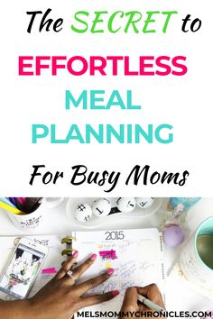 Meal planning can be exhausting, but moms have to do it. Here is a really simple guide to meal planning for moms. #mealplanning